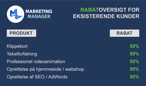 Rabat på marketing
